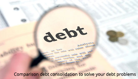 Comparison-debt-consolidation-to-solve-your-debt-problems